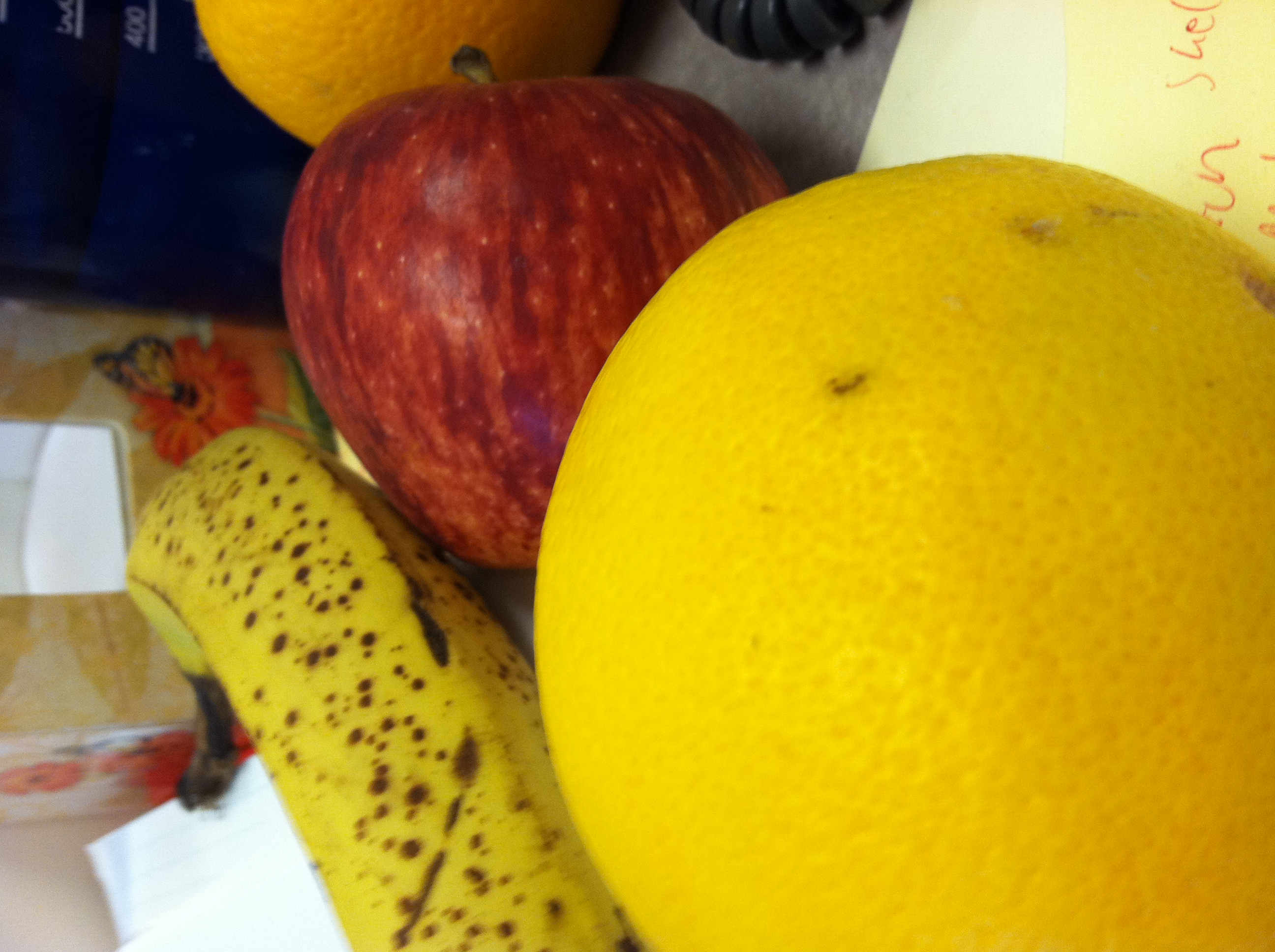 Fruit up on my desk